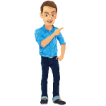 Man with Jeans and Blue Shirt